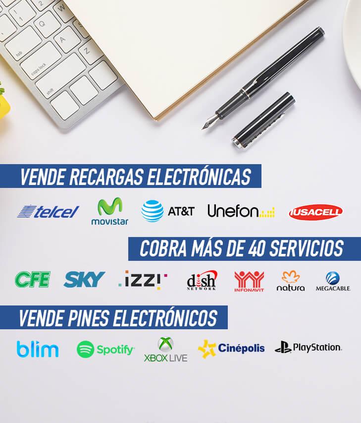 venta de recargas electronicas y pines electronicos y servicios