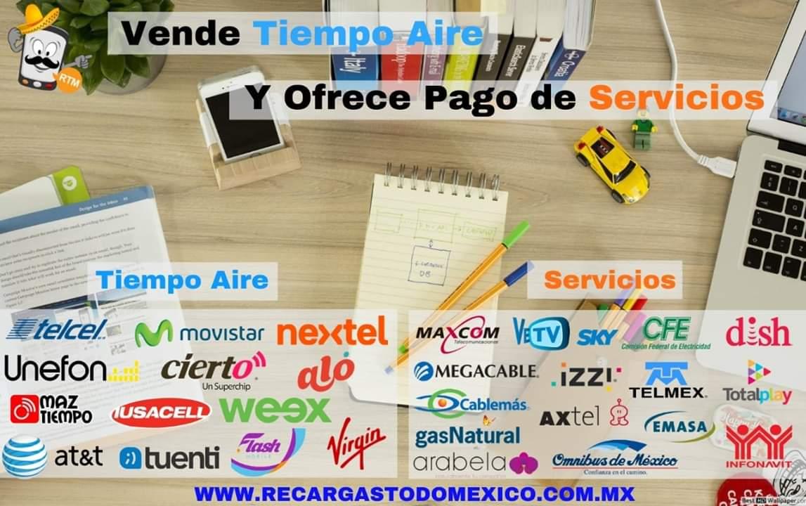 Imagen sobre la venta de recargas electronicas y pagos de servicios